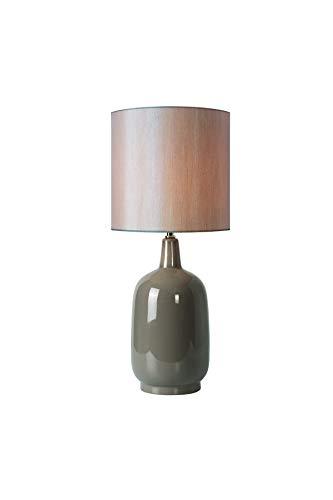 Meubletmoi tafellamp, vaas, keramiek, vintage-design, decoratieve lamp, beige