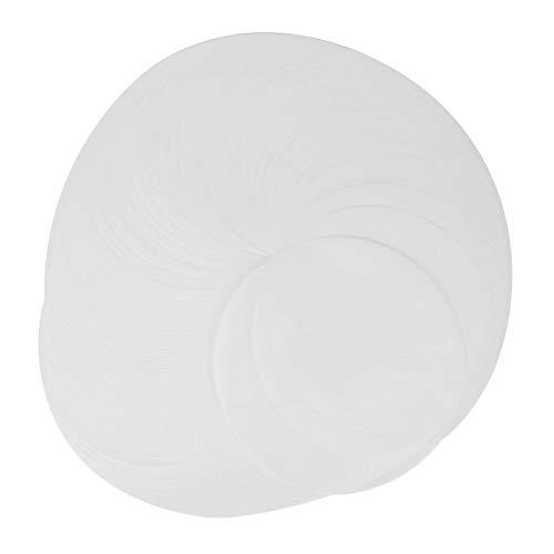 Omabeta Papel de Almohadilla de Horno de Papel de Aceite de Silicona Redondo 500PCS Papel para Hornear para Cocina para Tortilla
