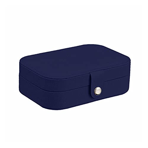 XUEXIU Nueva Caja De Joyería De Almacenamiento De Lujo Hilo De Seda Portátil Caja De Almacenamiento Stud Pendientes Anillo Joyería Caja Organizador Titular Regalo (Color : Blue)