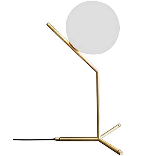 Lampara Mesilla de Noche ORB Lámpara de mesa decorativa moda de cristal creativo Lámpara de escritorio Nordic Modern Minimalist Personalidad Lámpara Lámpara de Escritorio