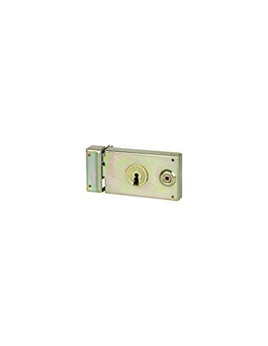 Serrure grille horizontale - 2 clés - gauche