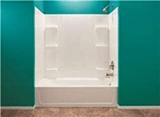 El Mustee 3557739 Durawall Thermoplastic Bathtub Wall Kit44; Whirlpool Sized44; 5 Piece44; 6 Shelves44; 42 x 72 in. - White