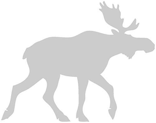 Samunshi® Norwegen Elch Tier Aufkleber Autoaufkleber Sticker für Auto Motorrad Wohnmobil Scheiben in 11 Größen und 25 Farben (10x7,8cm Silber)