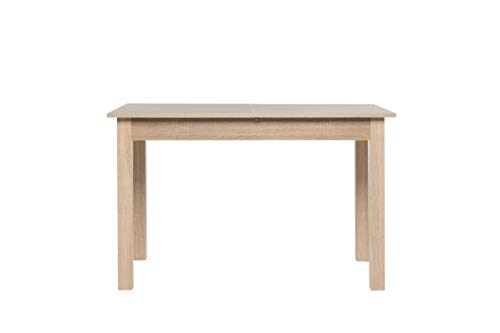 AVANTI TRENDSTORE - Colima - Tavolo da Pranzo, allungabile per 40 cm, in Legno Laminato, Disponibile in 2 Diversi Colori ed in 4 Diverse Misure (120-160x76,5x70 cm, Marrone)