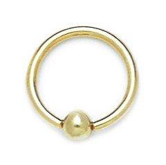 14ct de oro amarillo de 14 de cristal joyería Piercing del cuerpo...