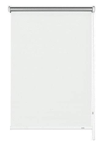 GARDINIA Seitenzug-Rollo mit Thermo-Rückseite, Decken-, Wand- oder Nischenmontage, Höchste Lichtreflektion, Energiesparend, Alle Montage-Teile inklusive, Weiß, 142 x 180 cm (BxH)