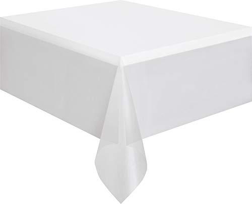 Unique Party Supplies 5080 Kunststoff-Tischdecke - 2,74 m x 1,37 m - Durchsichtig