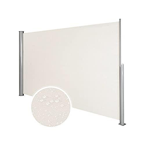 YUDEYU Cobertizo Lateral Exterior Pantalla retráctil Oficina Cortar Terraza Negocio Impermeable Parabrisas Toldo móvil (Color : Beige, Size : 1.6m x 3m)