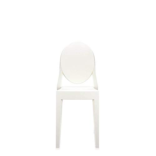 Kartell Set 2 Victoria Ghost Polished White Chair