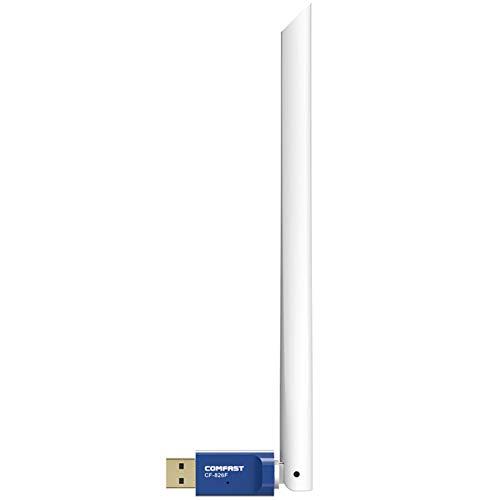 Conductor Gratis 300 Mbps USB inalámbrico WiFi Adaptador Receptor 2.4GHz Tarjeta de Red de señal Fuerte de Antena de Alta Ganancia 6DBI (Color : A)