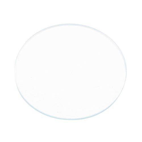 Campana piatta in vetro, 5 pz. Strumento per pezzi di ricambio in vetro cristallo per orologio piatto rotondo 37/38/39 mm per la sostituzione del livello di visualizzazione dell'orologio (39 mm)