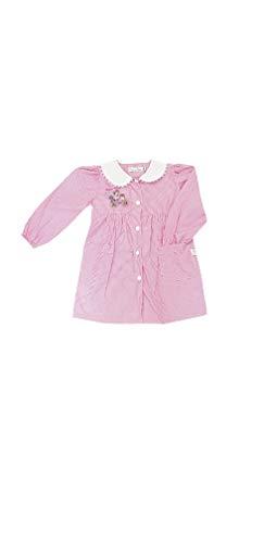 PRIMO DELLA CLASSE Grembiule asilo quadri rosa per bambina scuola materna (QUADRI ROSA OP304, 50-3 ANNI)