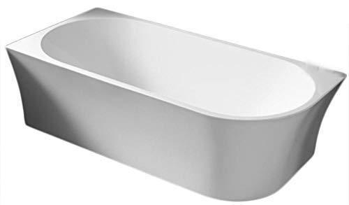 Freistehende Raumsparbadewanne NOVA CORNER Acryl weiß - Einbau links - 170 x 78 cm - Standarmatur wählbar, Standarmatur:Ohne Standarmatur, Siphon:Ohne Siphon