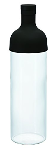 Hario Kaltbrau-Teeflasche mit Filtereinsatz 750ml schwarz