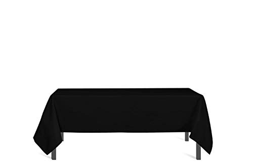 Soleil d'ocre Tischdecke mit Fleckschutz eckig 140x300 cm ALIX schwarz