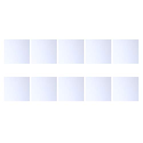 Exceart Bastelspiegel 10Er Pack Bulk Quadratische Spiegelfliesen 30X30mm Glasmosaikfliesen Klarglasfliesenquadrat für Mosaikschalen Bastelschmuck für Wohnkultur