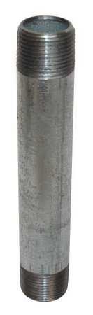 1//2 x 4 MNPT Threaded Galvanized Steel Pipe Nipple