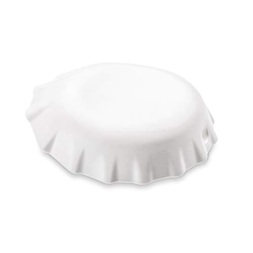 koziol Flaschenöffner Plopp, thermoplastischer Kunststoff, weiß, 8,5 x 2,4 x 7,7 cm