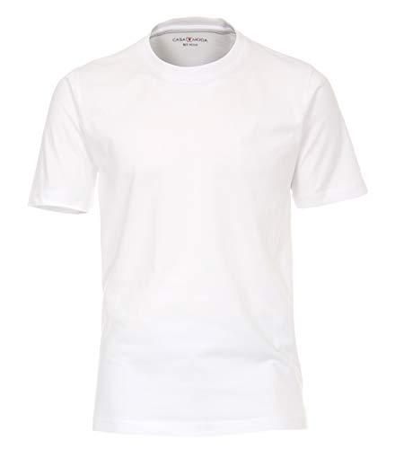CASAMODA Herren T-Shirt Halbarm Doppelpack 092500 Besonders pflegeleicht Weiß - Uni (000), 5XL
