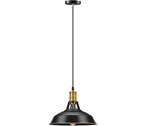 Industrial Pendant Light Fixtures,Licperron Vintage Metal Hanging Light for Home and Kitchen,Black
