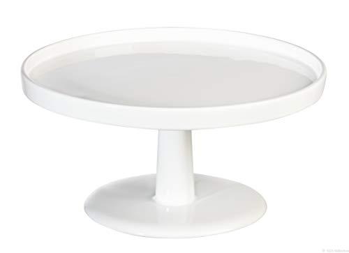 ASA 5241147 Tortenplatte - Servierplatte - klein - Keramik - weiß Ø 13 cm Höhe 7 cm