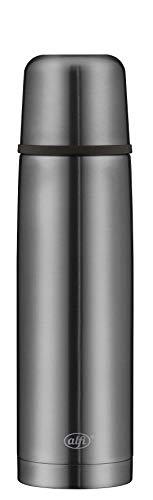 alfi isoTherm Perfect Thermosflasche Edelstahl grau 750ml, Isolierflasche mit Trinkbecher 5737.234.075 spülmaschinenfest, dicht, Thermoskanne hält 12 Stunden heiß, 24 Stunden kalt, BPA-Free