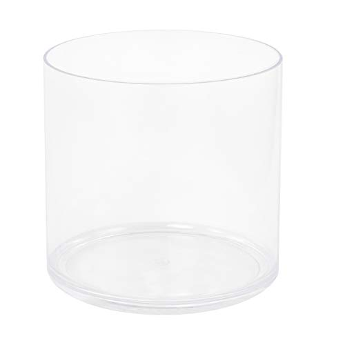 Royal Imports Flower Acrylic Vase Decorative Centerpiece for Home or Wedding Break Resistant - Cylinder Shape, 6