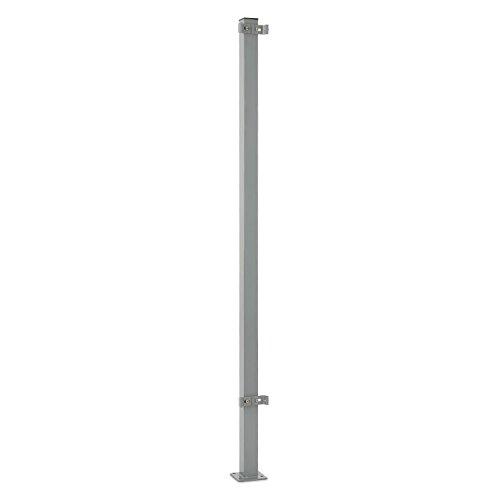 blumfeldt Torre di Bari - Standpfosten, Zubehörteil für Bari Seitenmarkisen, 1,5 m hoch, Aluminium, pulverbeschichtet, wandunabhängige Befestigung, Bodenmontage, 4 x Schwerlastdübel, grau