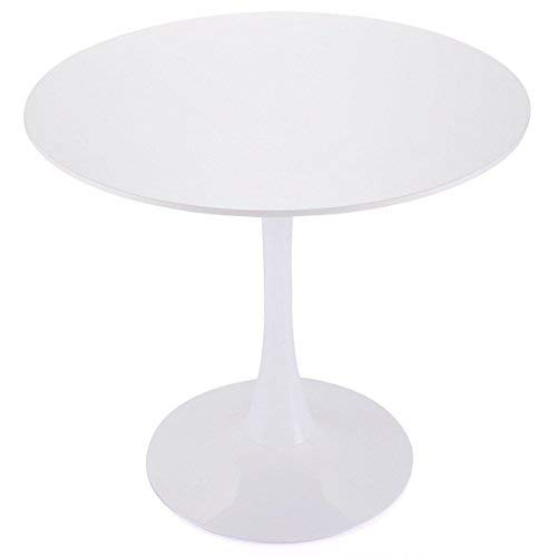 Tobbi 32' Inch Round Tulip Dining Table Coffee Table in White Elegant Furniture
