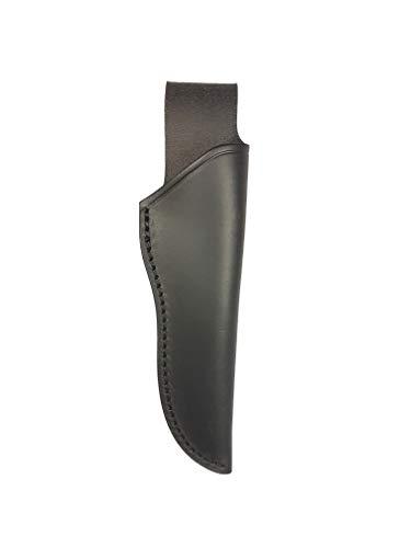 Bio Mordiscos Etui aus hochwertigem Rindsleder (Glattleder). Traditionelle Behandlung - Messer-Etui (Schwarz)