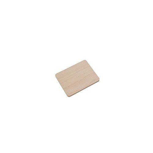 8x Holz-Untersetzer Brettchen, 10 cm, Buchenholz, hitzebeständige Holzbrettchen aus Europa, rechteckige Holzuntersetzer zum Basteln, stabile Untersetzer für Raclette-Pfännchen, dekorative Glas-Untersetzer (8 Stück)