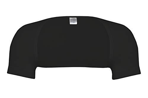wobera Angora Schulterwärmer mit ½ Arm aus Schurwolle und Seide (Gr. S, Farbe: schwarz)