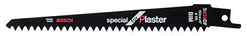 Bosch Professional 5 unidades Hoja de sierra sable S 628 DF Special for Plaster, para fibrocemento, 150 x 19 x 1.25 mm, accesorio de sierra sable