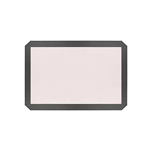 GDLKY 2/3 - Alfombra de cocción de silicona, sin BPA, antiadherente, tela de lámina de cocción para repostería, incluye guante de cocina y cepillo de silicona, reutilizable (gray, 2)