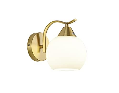 Lámparas de pared de cristal modernas.Lámpara de Pared LED.Lámpara de pared de cobre simple, luz de vidrio de lujo, luz de tres tonos, sala de estar, estudio, lámpara de pared junto a la cama