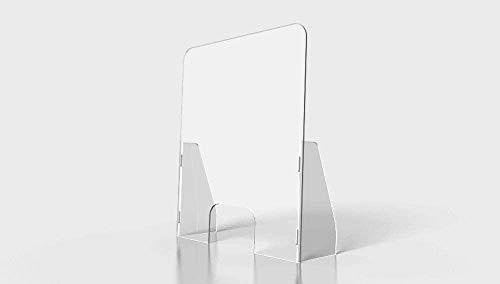 Oedim Mamparas de Protección de Metacrilato Transparente | Pantalla separadora metacrilato| Incluye peanas|Medida 125x75cm