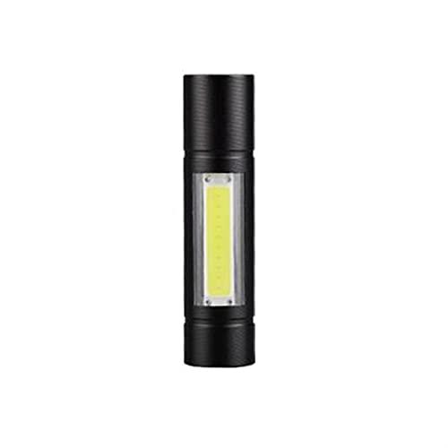 Linterna, luz fuerte de largo alcance, linterna súper brillante recargable, Multifunción USB, luz de inundación LED al aire libre de ultrafiro mini, vida útil de la batería, fuente de doble luz.