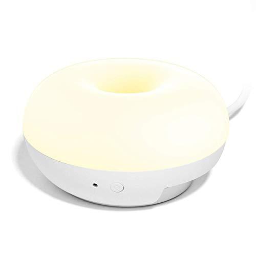 ZHANGYY Luz de Noche LED Multifuncional Inteligente Equivalente a 2W Bombilla halógena de 20 W Puerto de Cargador USB Doble Enchufe de Pared Lámpara de Pared multifunción Luz LED de Emerge