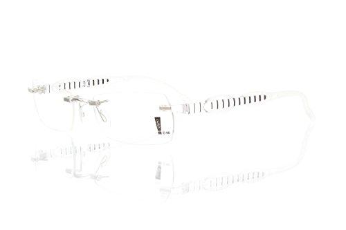 switch it Garnitur Combi 2357 Wechselbügel Montur in der Farbe transparent, Ellipse transparent, Streifen schwarz-rosa