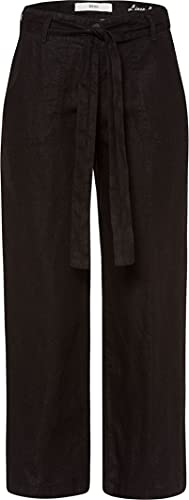 BRAX Maine S Linen Love Pantaloni, Nero (Black 02), W36/L30 Donna