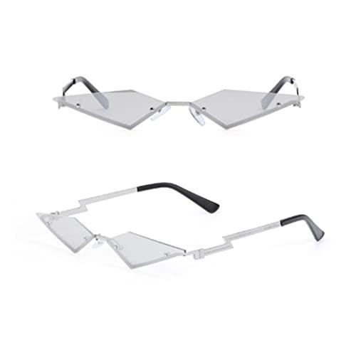 SASCD 2020 Moda Llamas de Fuego Gafas de Sol sin Montura Hombres de Las Mujeres Gafas de Sol de Onda UV 400 Gafas de Sol de Tendencias de Lujo Criterios (Color : 3)