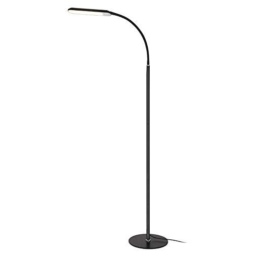 Zzh Stehlampe, Dimmbare LED Stehlampe,3 Farbtemperaturen Leseleuchte Bodenlampe Stehleuchte Moderne Leselampe für Schlafzimmer Wohnzimmer,Schwarz