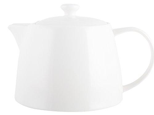 MIKASA - Teiera con Design scanalato, Collezione Ciara, Porcellana, White, 19 x 18 x 12 cm