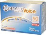 Clever Chek Voice Blood Glucose Test Strips 50's Long Exp Sold By Diabetic Corner