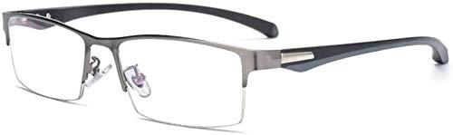 Gafas de lectura Progresiva Multifocus Fotocromáticas gafas de lectura, TR90 primavera armas Sun Gafas, medio borde de metal vasos, copas de teléfono unisex vasos ( Color : Gun Color , Size : +1.0 )