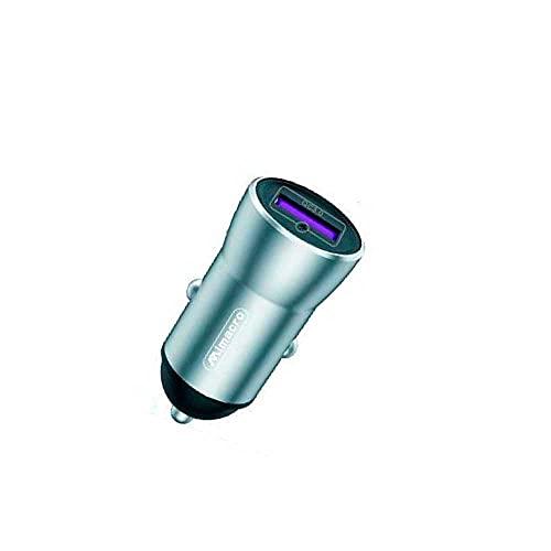 Mimacro Cargador de Coche USB Tipo C 3.6 A Metal Carga Rápida 18W 30 Minutos 50% cargado1M Cable Negro
