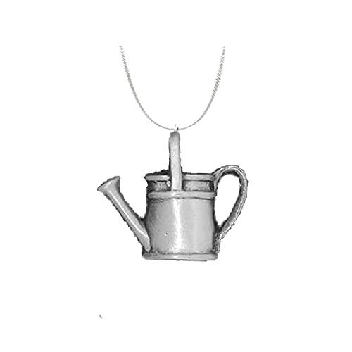 Riego puede R197 emblema inglés de peltre en un collar de plata de ley 925 de 30 pulgadas
