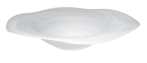 Budawi® - Alabaster Brunnenschale Flower rund weiß, Ø 42 cm für Nebler und Zimmerbrunnen