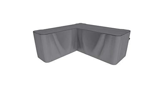 SORARA Housse de Protection Hydrofuge pour Canapé d'angle | Gris | 235 x 235 x 70/100 cm