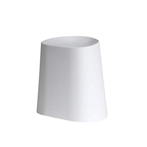 tabouret QIQIDEDIAN Bas de Rangement empilable de Grande capacité (Color : White)